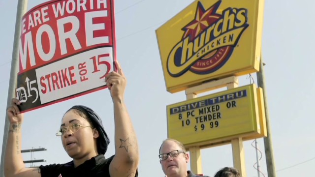 Fast food workers demand fair pay