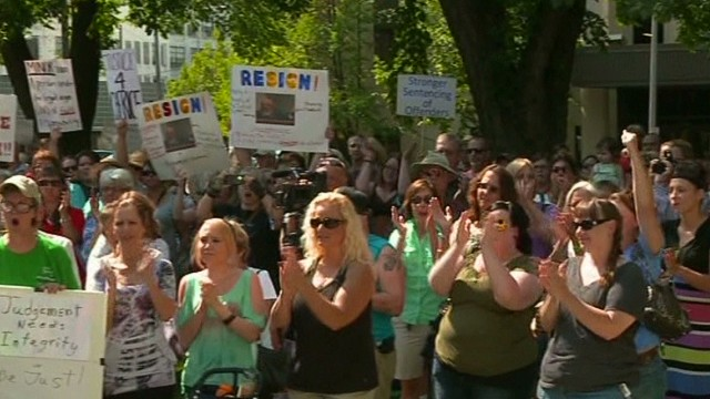 New protests over 30-day rape sentence