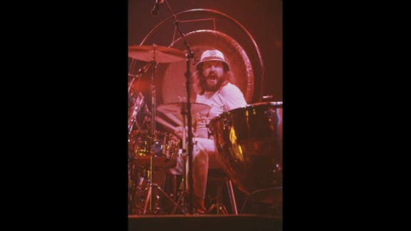 English drummer John Bonham (1948-1980) of the rock group Led Zeppelin learned to play the drums when he was just 5 using coffee tins, containers and pots and pans. It wasn