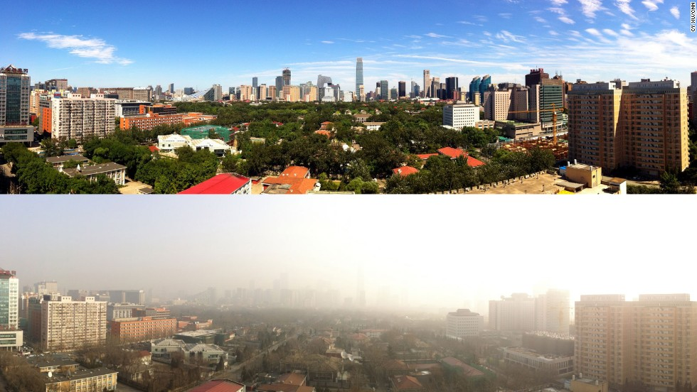 Beijing's smog has been particularly horrendous this year. Clear days like this one are photo-celebration worthy. Check out the contrast between the good days and the bad.