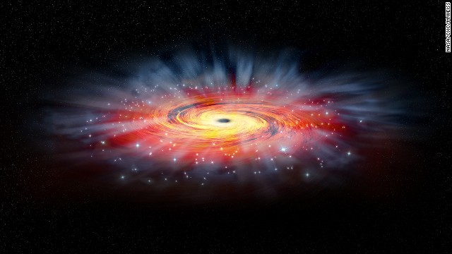 This illustration shows Saggitarius A, the Milky Way's central black hole.