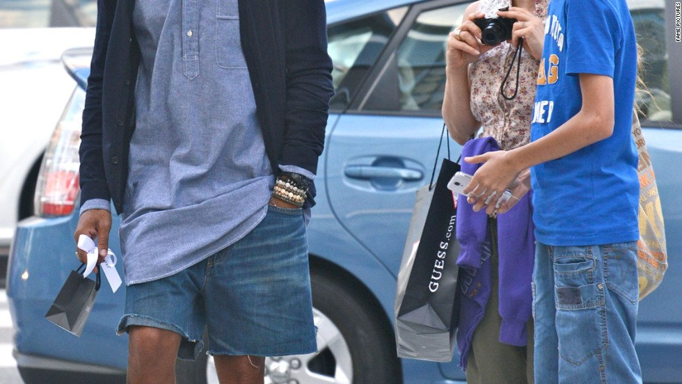 Pharrell Williams does some shopping in Beverly Hills on August 29.