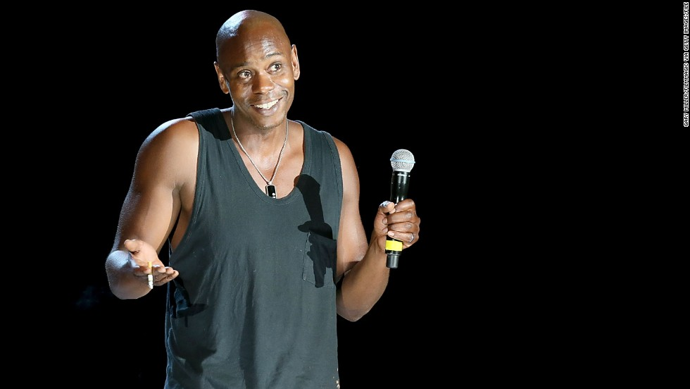 "Given how <a href=""http://marquee.blogs.cnn.com/2013/08/30/dave-chappelle-walks-off-stage-during-hartford-show/"">rowdy the crowd </a>was at Dave Chappelle's August 2013 show in Hartford, Connecticut, his abrupt exit speech was remarkably polite. ""I like some of you, I hate some of you. I forgive some of you, but I don't forgive all of you."" And then, amid escalating boos, the comedian dropped the mic and cued Kanye West's ""New Slaves."" Chappelle is seen here at an earlier performance."