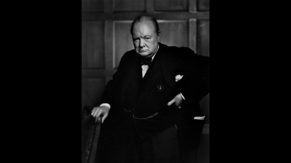 """Yousuf Karsh's 1941 portrait of a scowling Winston Churchill -- reportedly reacting to Karsh snatching Churchill's cigar -- graced the cover of Life magazine and cemented the British prime minister's reputation as a """"roaring lion."""" """"By the time I got back to my camera, he looked so belligerent he could have devoured me,"""" Karsh recalled. """"It was at that instant that I took the photograph."""" The Bank of England announced in 2013 that the famous portrait would be featured on the £5 note."""