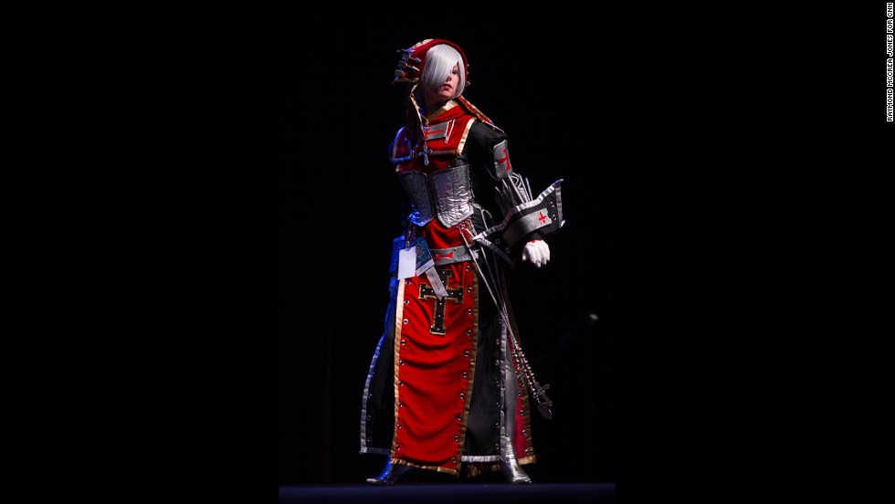 "This participant dressed as Sister Paula Souwauski from the novel ""Trinity Blood"" for the contest."