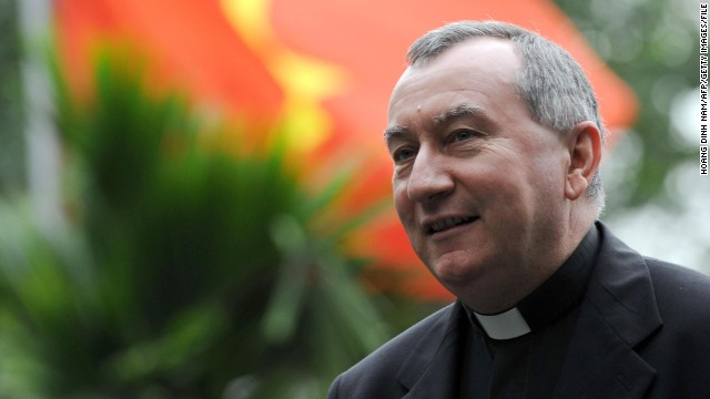 The new Holy See's secretary of statePietro Parolin pictured here in Hanoi on February 19, 2009.