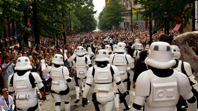 Stormtroopers are always a hit at Dragoncon.