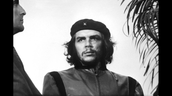 """Alberto Korda photographed Marxist revolutionary Che Guevara in 1960 at a memorial service for victims of the La Coubre explosion in Havana, Cuba. The portrait, titled """"Guerrillero Heroico,"""" has been widely reproduced through the decades, evolving into a global symbol of rebellion and social justice. As a supporter of Guevara's ideals, Korda never sought royalties for the distribution of his image."""