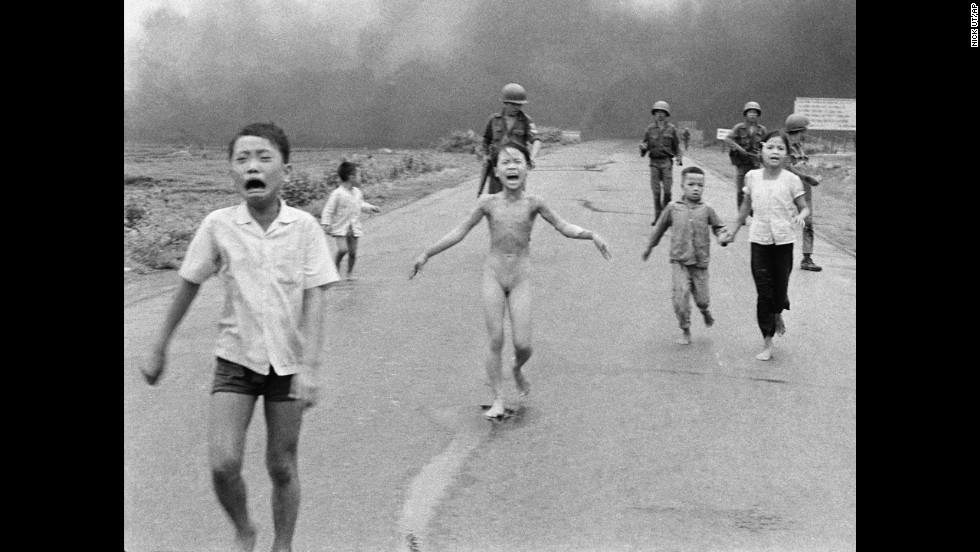 Associated press photographer nick ut photographed terrified children running from the site of a napalm attack