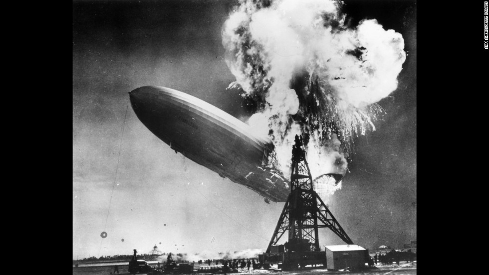 "In 1937, Sam Shere photographed the Hindenburg disaster while on assignment in New Jersey. The crash killed 36 people and ended the era of passenger-carrying airships, which were once hailed as the future of flight. ""I had two shots in my (camera) but I didn't even have time to get it up to my eye,"" <a href=""http://www.telegraph.co.uk/expat/expatpicturegalleries/8502342/History-as-it-happened-the-photographs-that-defined-our-times.html"" target=""_blank"">Shere later said</a>. ""I literally shot from the hip -- it was over so fast there was nothing else to do."""