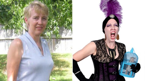 """Mary Ann Harpe of Evans, Georgia, chose """"The Emperor's New Groove"""" as part of a steampunk Disney villains' group. """"I had been an exchange student ... (in) Lima, Peru, in the '70s and I knew I could use some of the items I got in Peru with the costume. I kept Yzma's main colors of purple and black."""""""