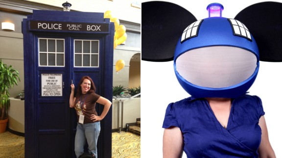 """Suzanne Najbrt's combination of """"Doctor Who's"""" TARDIS and DJ Deadmau5 led to the nickname """"TARDI5"""" by """"Talking Dead"""" host Chris Hardwick. """"Cosplay allows me to escape from my mundane suburban mom role and into anything I want to be. For those few hours, I'm just a girl in a costume having fun. No cares. No worries. And I make people smile."""""""