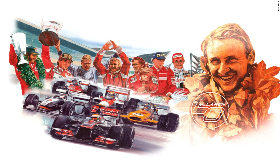 British-based racing company McLaren are celebrating the 50th anniversary of its Formula One team in 2013.
