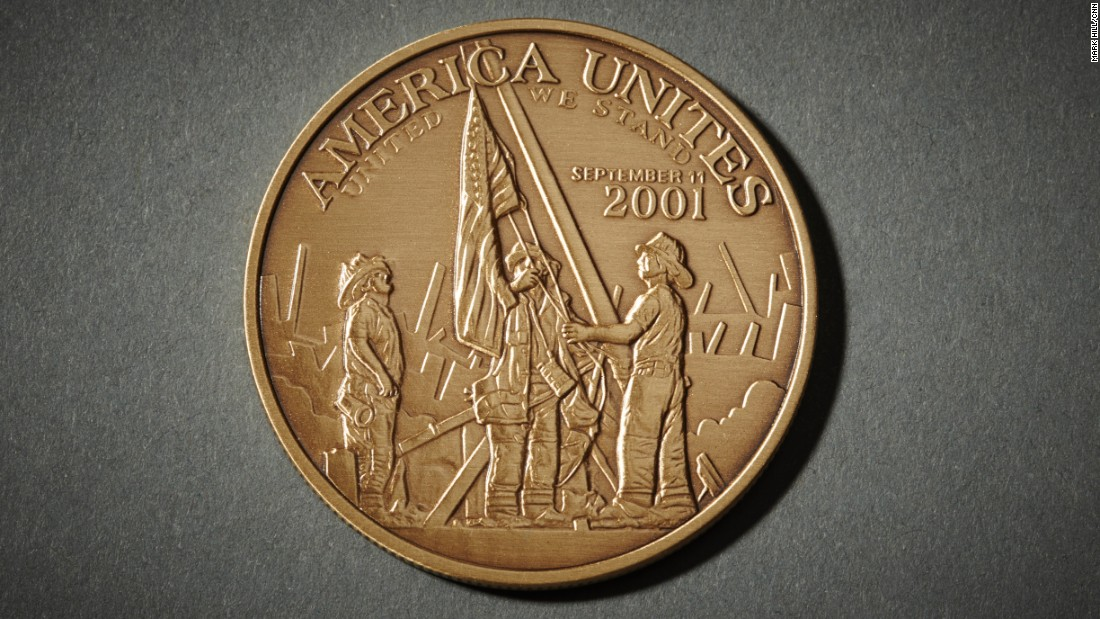 The scene captured by Franklin also made its way onto a commemorative coin.