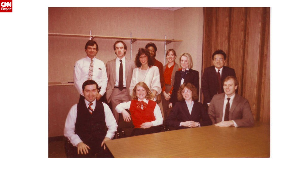 "<a href=""http://ireport.cnn.com/docs/DOC-1031057"">Marjorie Zien</a>, seated second from right, was a computer programmer at the Morgan Guaranty  Trust Company in 1985 and frequently wore skirt-suits to work. She commuted in sneakers and changed into pumps at the office. ""It all seems so formal to me. It was as if we were wearing a uniform,"" said Zien, now 56."