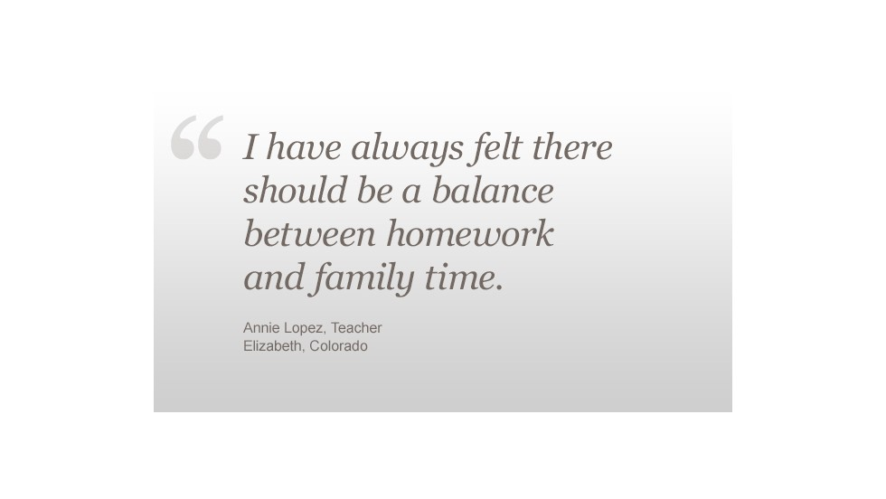 Homework Annie Lopez quote