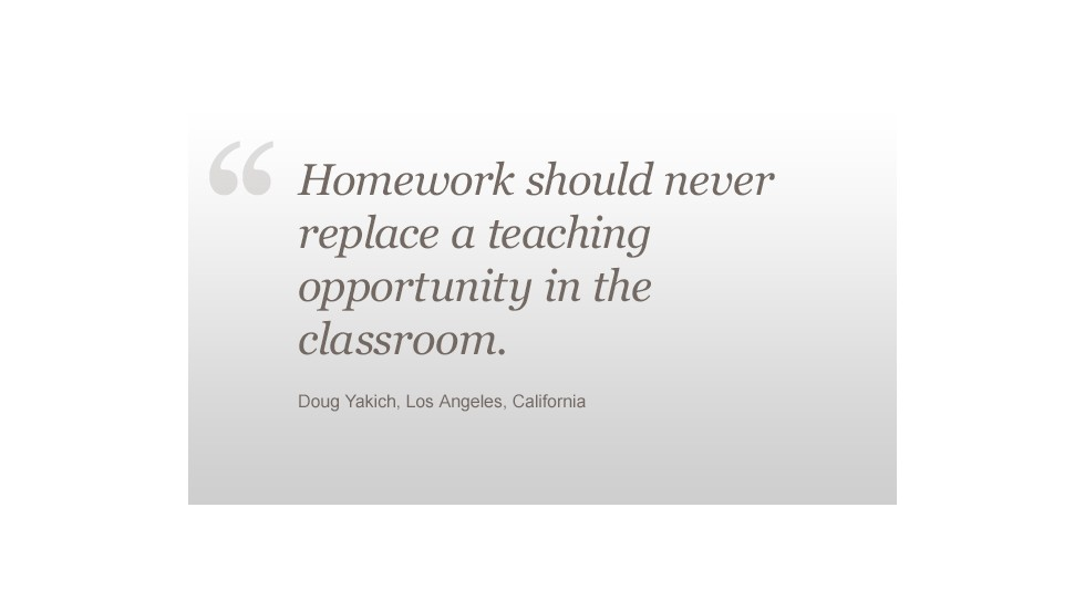 homework debate too much too little or busy work cnn homework doug yakich quote