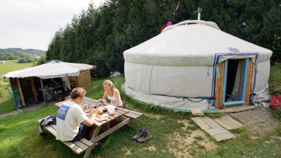 """""""So, babe, how do you like camping in this yurt?"""" """"Jim, I want a divorce."""""""