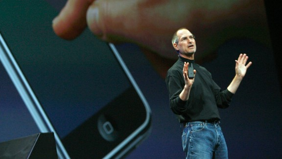 Apple CEO Steve Jobs introduced the iPhone to the world January 9, 2007, at the Macworld conference in San Francisco. The device, which seems almost quaint now, went on sale five months later.