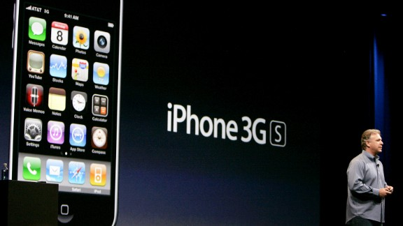 Philip Schiller, Apple's senior vice president of marketing, unveiled the iPhone 3GS at Apple's Worldwide Developers Conference on June 8, 2009. Schiller filled in for the ailing Jobs, who was on medical leave. The 3GS was the first iPhone to shoot video.