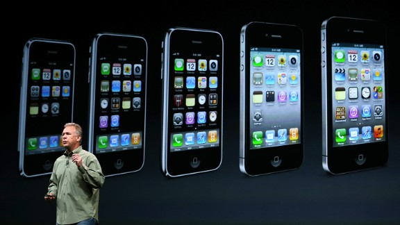 Schiller, the Apple marketing chief, announced the iPhone 5 on September 12, 2012, in San Francisco. This model featured a slightly larger screen and a new connector for charging the battery.