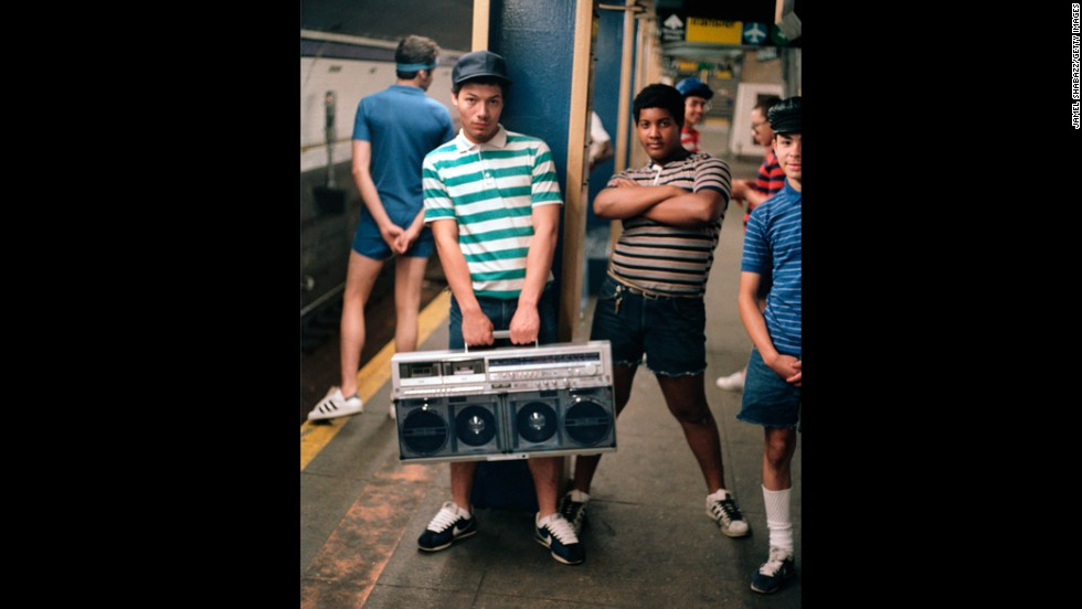 "With the arrival of the boom box, cassettes came back into vogue in the '80s. This hulking music delivery system was considered ""portable""  and helped propel cassette sales."