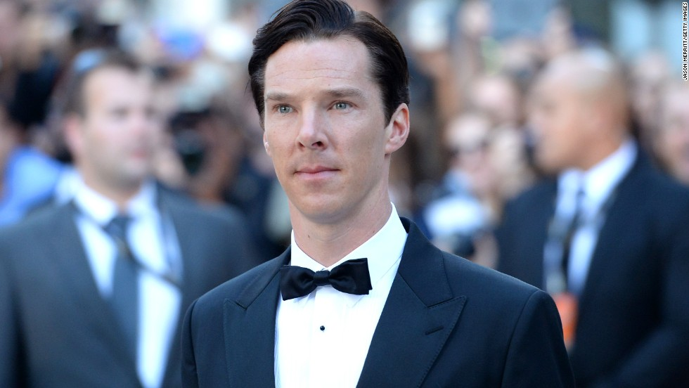 "Actor Benedict Cumberbatch arrives at ""The Fifth Estate"" premiere during the film festival on Thursday, September 5."