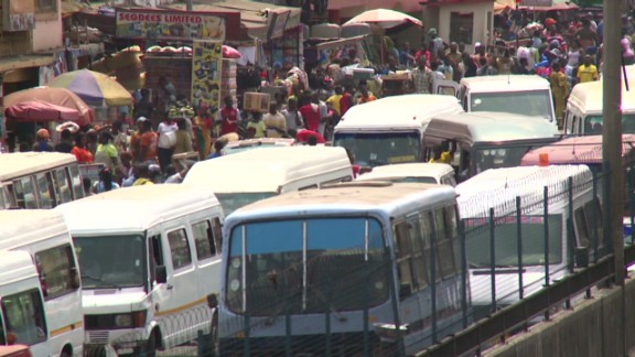 Accra's busy streets are often clogged with heavy traffic as more and more Ghanaians jump behind the wheel.