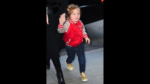 """Now 7, Shiloh Jolie-Pitt has caught the eye of photographers for her independent sense of style. The middle Jolie-Pitt's preference for short hair has made her <a href=""""http://www.usmagazine.com/celebrity-beauty/news/shiloh-jolie-pitt-6-looks-all-grown-up-with-new-haircut-2013192"""" target=""""_blank"""" target=""""_blank"""">a regular feature in celebrity magazines</a>."""