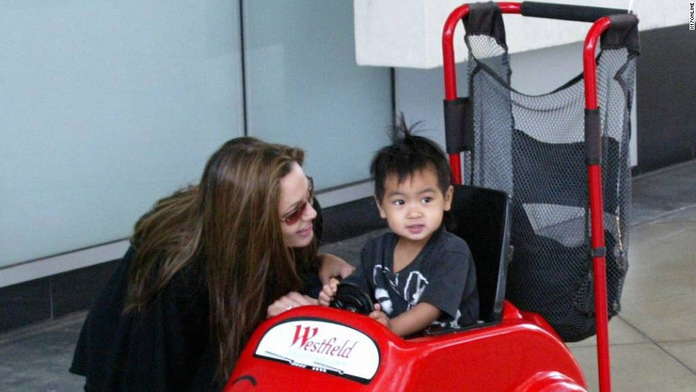Maddox was small enough to fit into this little toy car. The first addition to the Jolie-Pitt family, Maddox was born in Cambodia and adopted by Jolie in 2002, when the actress was still married to Billy Bob Thornton.