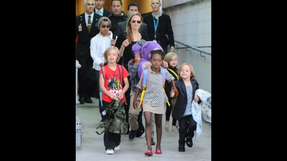 When we saw this photo of Brad Pitt and Angelina Jolie's brood -- sans father Pitt -- at the Sydney Airport in Australia, we were struck by how much the six Jolie-Pitts have grown. We can remember when ...