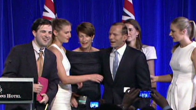 Intruder upstages Abbott's victory speech