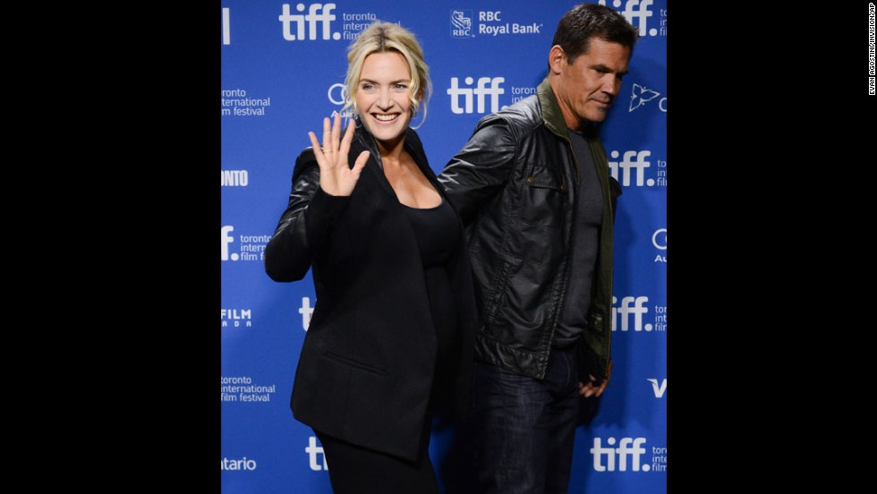 "Actors Kate Winslet and Josh Brolin appear at the press conference for ""Labor Day"" on Day Three of the film festival on September 7."