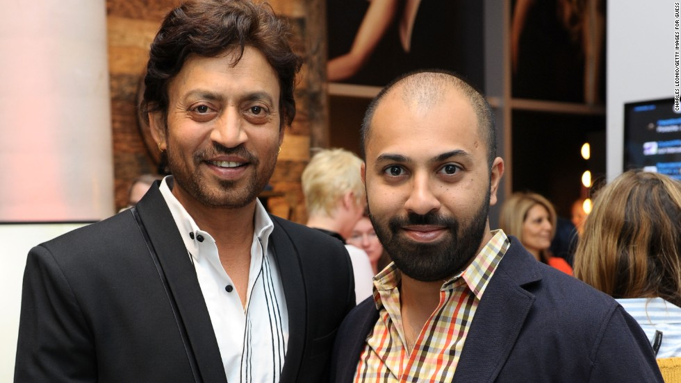 Irrfan Khan, left, and Ritesh Batra appear at Guess Portrait Studio on September 7.
