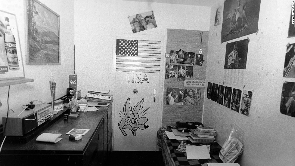 This picture was taken in the room of a teenager that allegedly showed pro-Western sympathies.