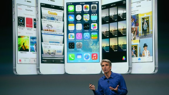 Apple Senior Vice President of Software Engineering Craig Federighi speaks about iOS 7, the next version of Apple
