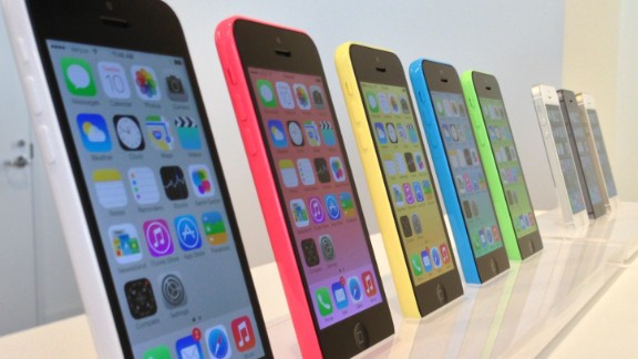 The latest additions to the iPhone line -- the colorful iPhone 5C, left, and higher-end iPhone 5S -- mark the first time Apple has launched two new versions of the phone. Initial reviews have been positive.