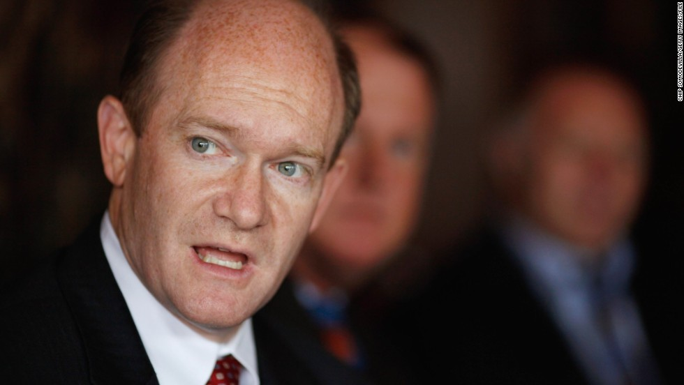 "Sen. Chris Coons, D-Delaware, is a member of the ""Gang of 8"" looking for a compromise on Syria. Coons is backing military action in Syria despite pressure from antiwar constituents in his state."