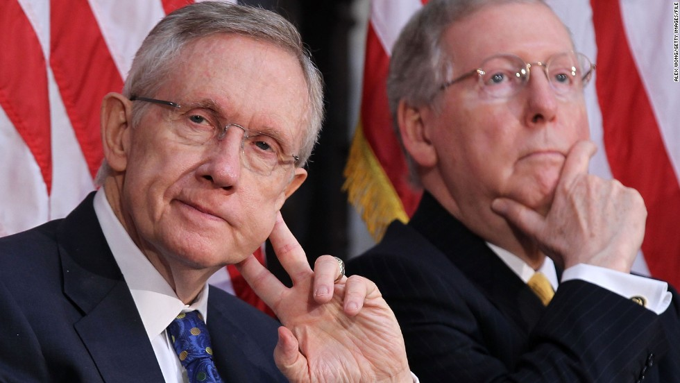 The Obama administration has asked Congress to delay voting on authorizing military action in Syria, but the White House will still push the idea in case diplomacy fails. Senate leaders Harry Reid, D-Nevada, left, and Mitch McConnell, R-Kentucky, control the process and will determine the initial language and format for any vote in the chamber.