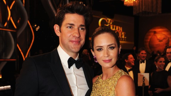 """You don't often hear much about John Krasinski and his wife, Emily Blunt. The pair didn't confirm they were a couple until they became engaged in 2009. """"The Office"""" star announced via Twitter in February that his wife had given birth to their daughter."""