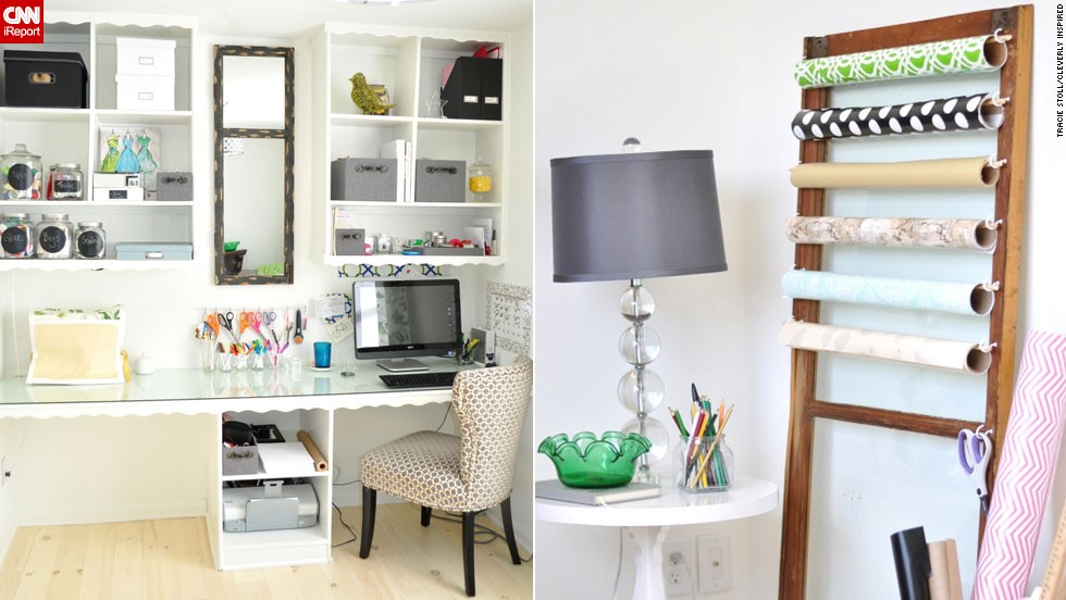 "<a href=""http://ireport.cnn.com/docs/DOC-1029190"">Tracie Stoll</a>'s craft room and office makes her work tools the <a href=""www.cleverlyinspired.com"" target=""_blank"">decor focus</a>."