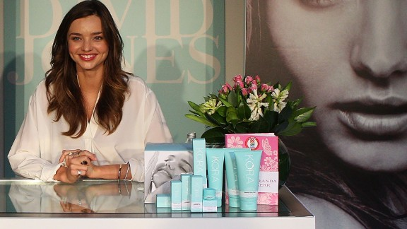 Trailing behind Bundchen on the Forbes list was Australian model Miranda Kerr. Endorsement deals with Qantas, Mango, and her own line of beauty products, Kora Organics netted the model a reported $7.2million in just 12 months.