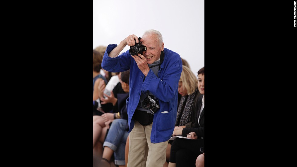 Legendary photographer Bill Cunningham in action at Derek Lam's show.