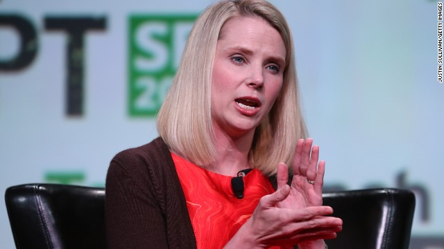 Yahoo CEO Marissa Mayer, speaking Wednesday at the TechCrunch Disrupt conference in San Francisco.
