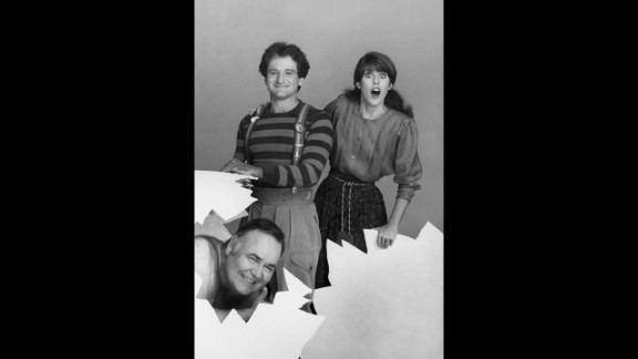 """""""Mork & Mindy"""" was just one of the spinoffs from ABC's """"Happy Days."""" It also made the late Robin Williams a superstar (here with co-star Pam Dawber and Jonathan Winters)."""