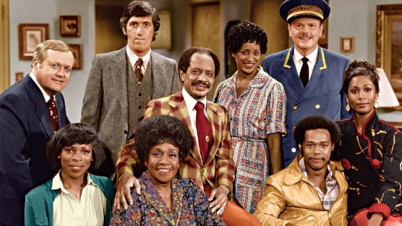 """Producer Norman Lear found additional success with """"The Jeffersons,"""" one of the spinoffs from his groundbreaking series """"All in the Family."""" Isabel Sanford, Sherman Hemsley and Marla Gibbs, at center, were the stars."""