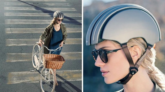 Carrera's new foldable helmet is a 'revolution in city bike protection'. It's flexible frame means you can stash it away in a bag with no compromise on safety.