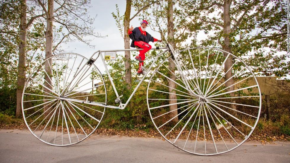 The largest rideable bicycle has a wheel diameter of 10 feet, 9.92 inches (3.3 meters) and was built by Didi Senft from Germany, and measured at Pudagla, Germany, on October 2, 2012.