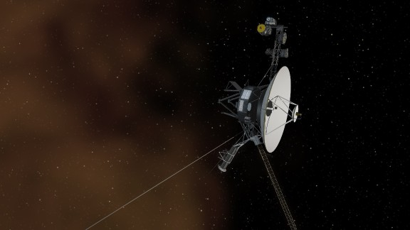This illustration shows NASA's Voyager 1 spacecraft entering the space between stars.