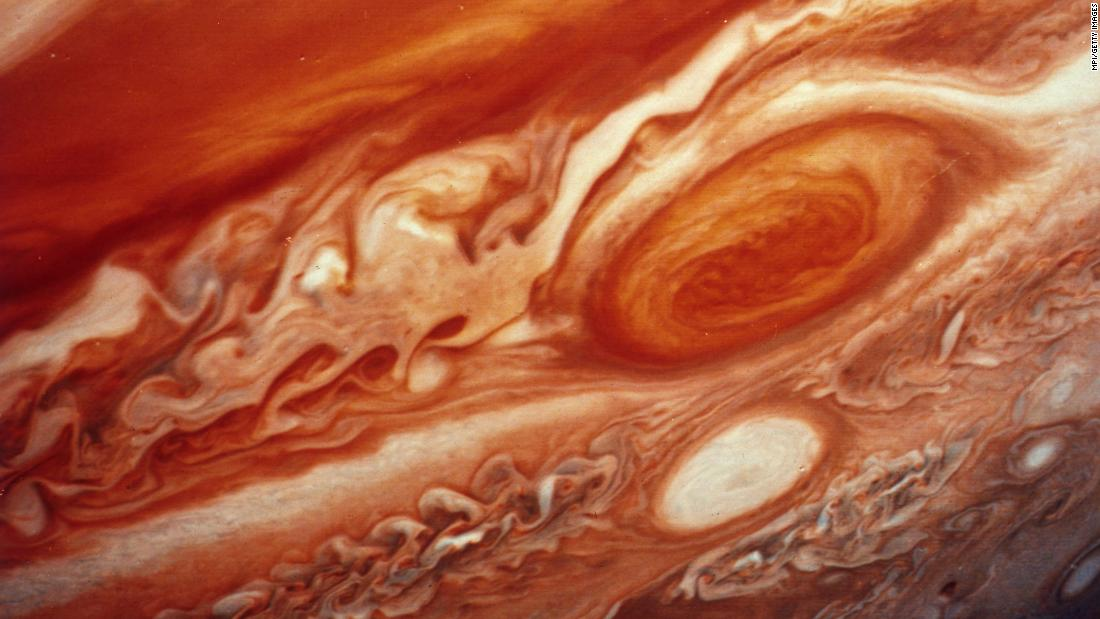 Voyager 2 provided this image of Jupiter's red spot.<br />